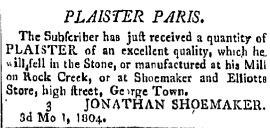 An ad in the Washington Federalist newspaper on March 14, 1804.