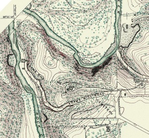 1888 U.S. Geodetic Survey map, before the 1890 acquisition of the northern strip of cemetery land along the southern side of Adams Mill Road for the newly created National Zoo.