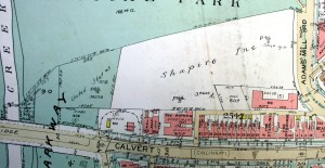 1960 Baist's Map; outline of Quaker cemetery is visible again (marked 809) after disappearing from earlier maps